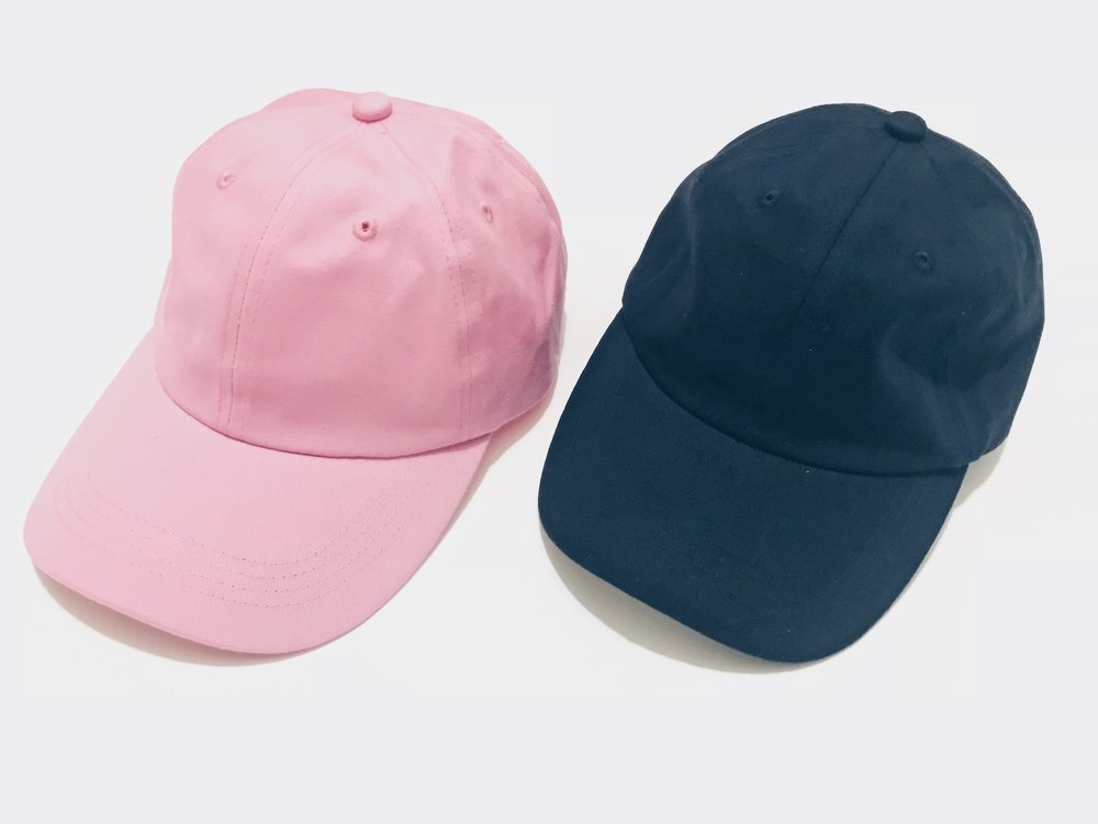 Pink & Deep Blue - i am i Dad Hat - DROP