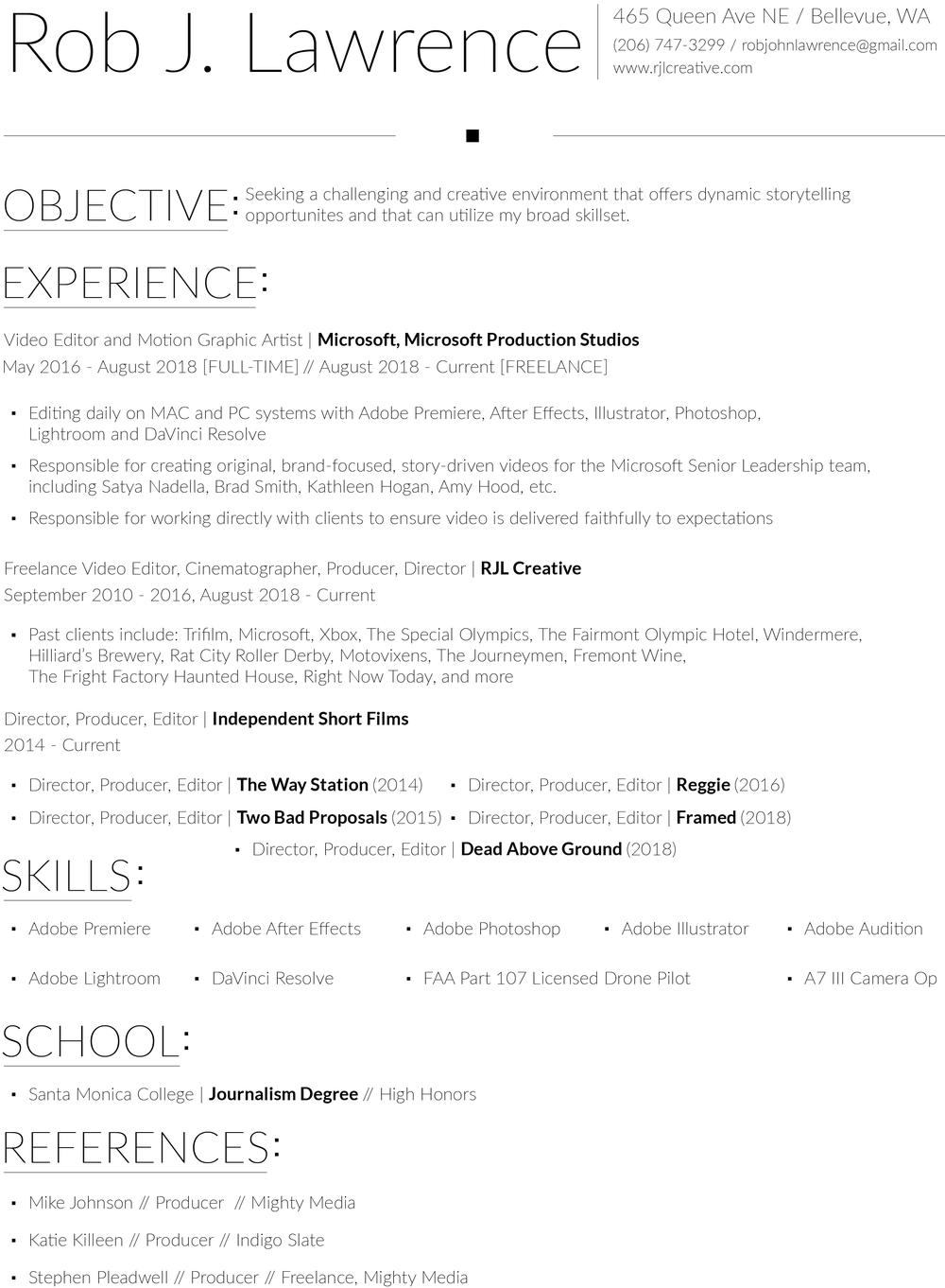 resume robjohnlawrence gmail com