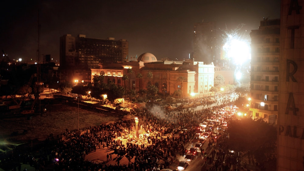 Egypt. Cairo. 12 February 2011. Celebrations in Tahrir Square, the day after President Mubarak announced his resignation following a series of protests across the country. Photo: © Moises Saman/Magnum Photos