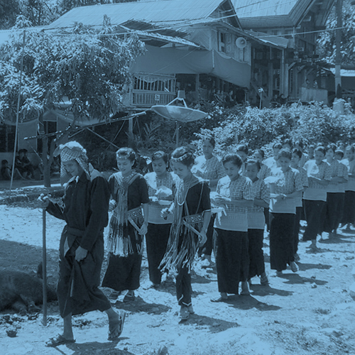 Procession at a funeral in Tana Toraja.