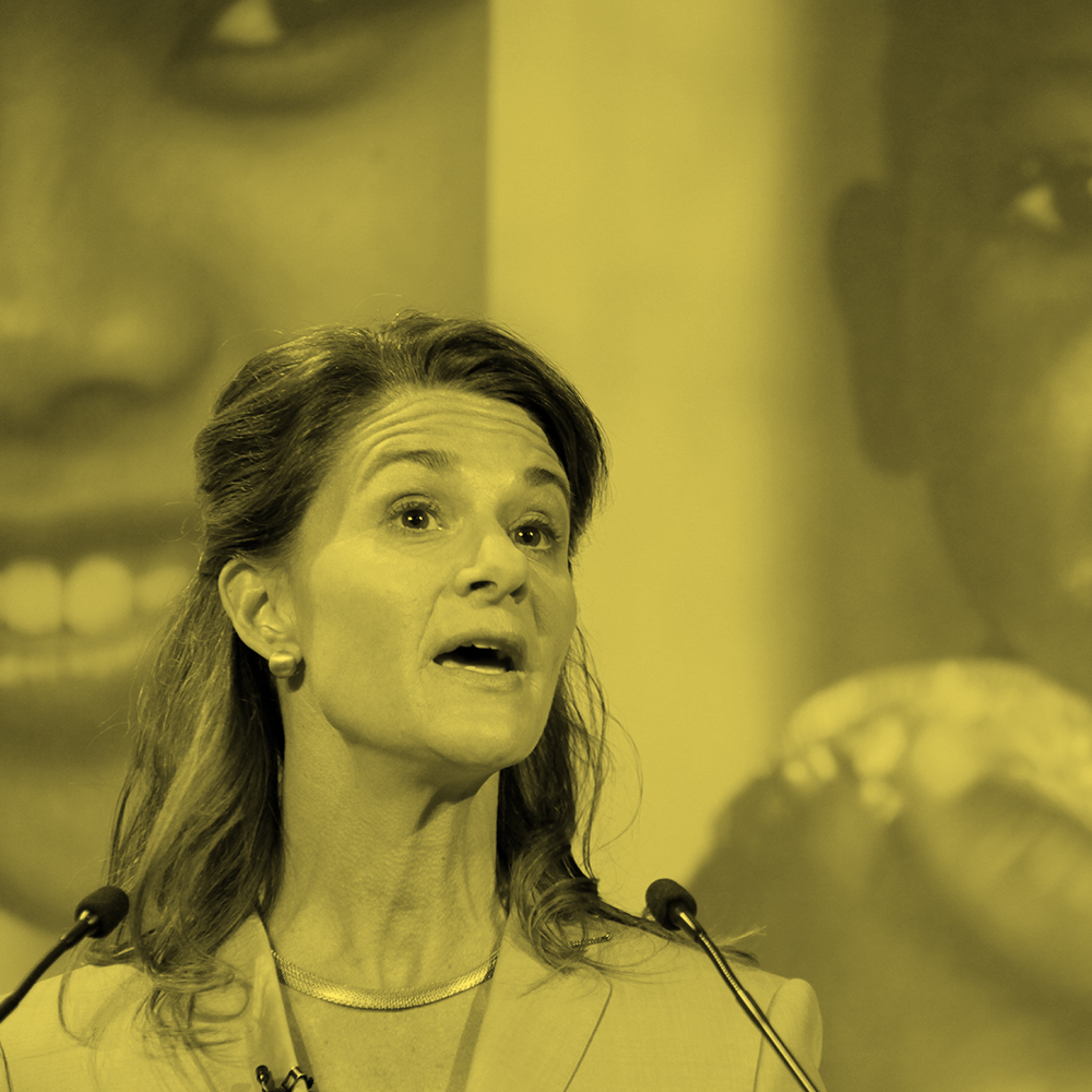Melinda Gates, speaking at the London Summit on Family Planning. (Russell Watkins/Department for International Development)