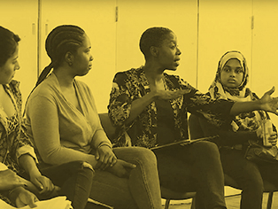 REACTIONS TO MARGARET SANGER'S SPEECH  with Noma Dumezweni and members of Women Inspiring New Generations.