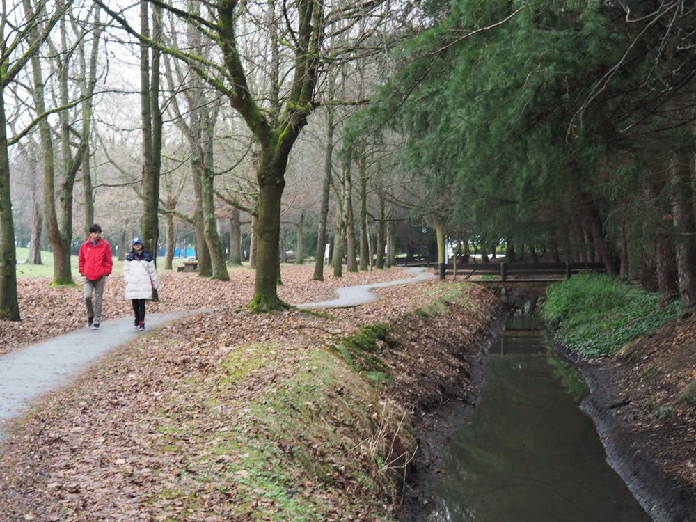 Minoru Canal divides the North and South Precincts