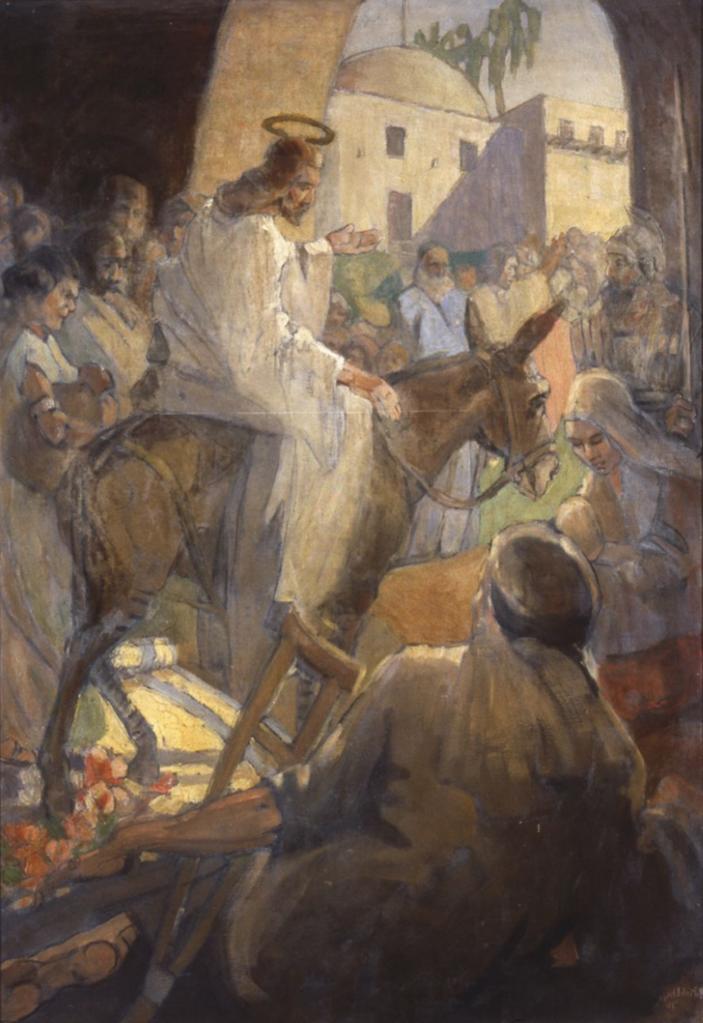 Christ's entry into Jerusalem, by Minerva Teichert