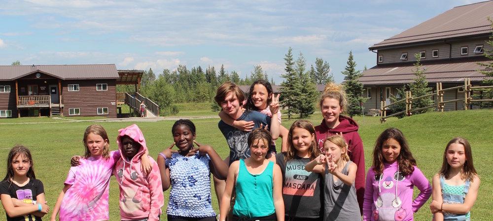 Smiling cabin full of campers at Kamp Kiwanis