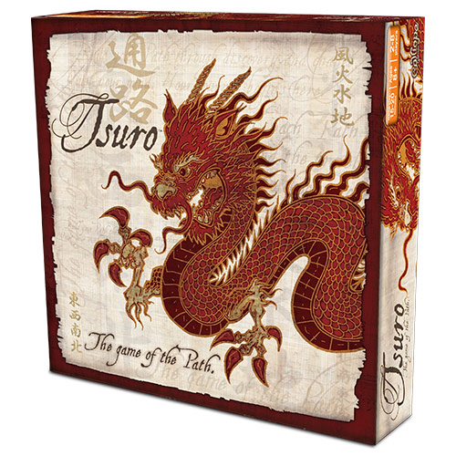 Create your own journey with Tsuro: The Game of the Path! Place a tile and slide your stone along the path created, but take care. Other players' paths can lead you in the wrong direction—or off the board entirely! Paths will cross and connect, and the choices you make affect all the journeys across the board. Find your way wisely and be the last player left on the board to win!