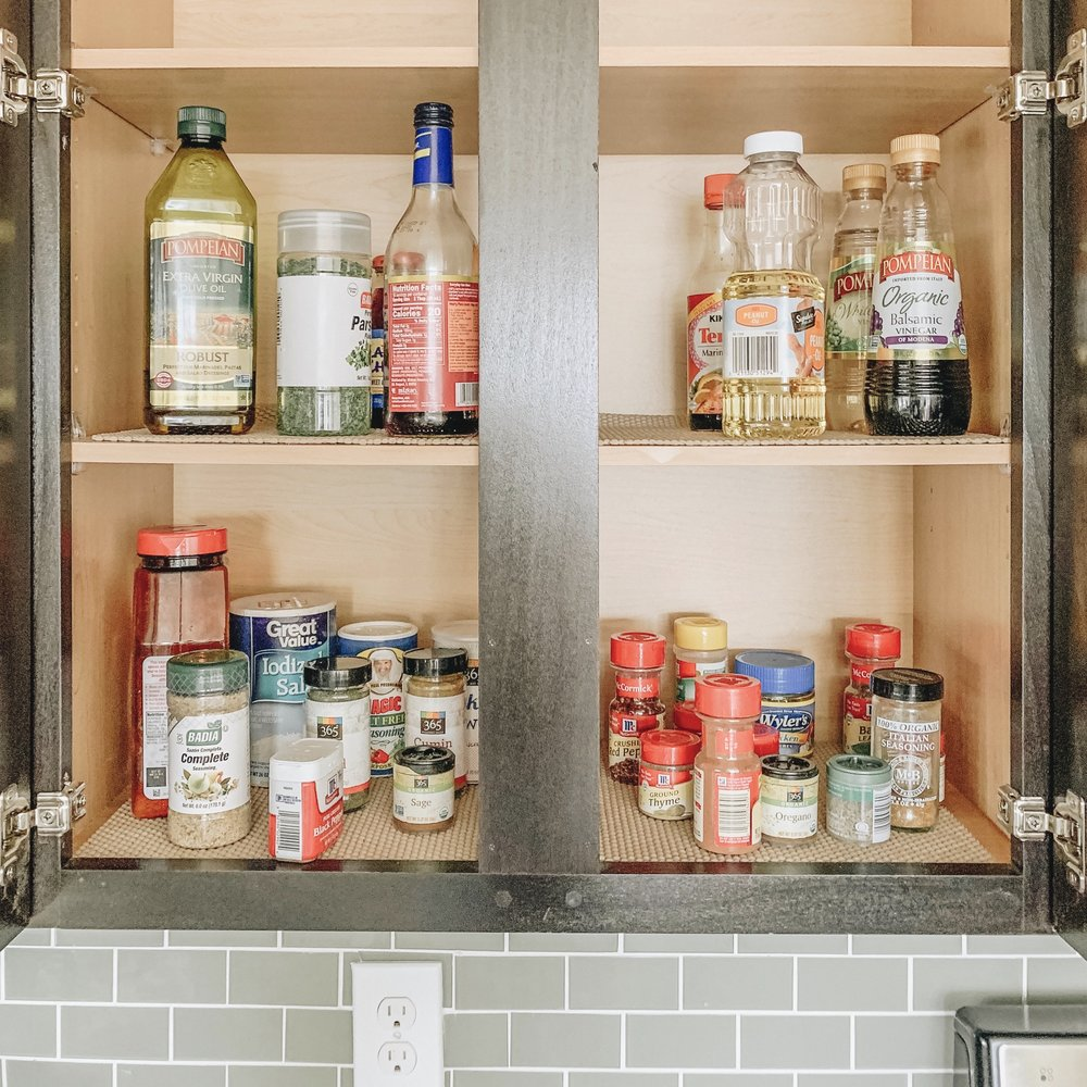 How to Organize Cabinet Space | Before