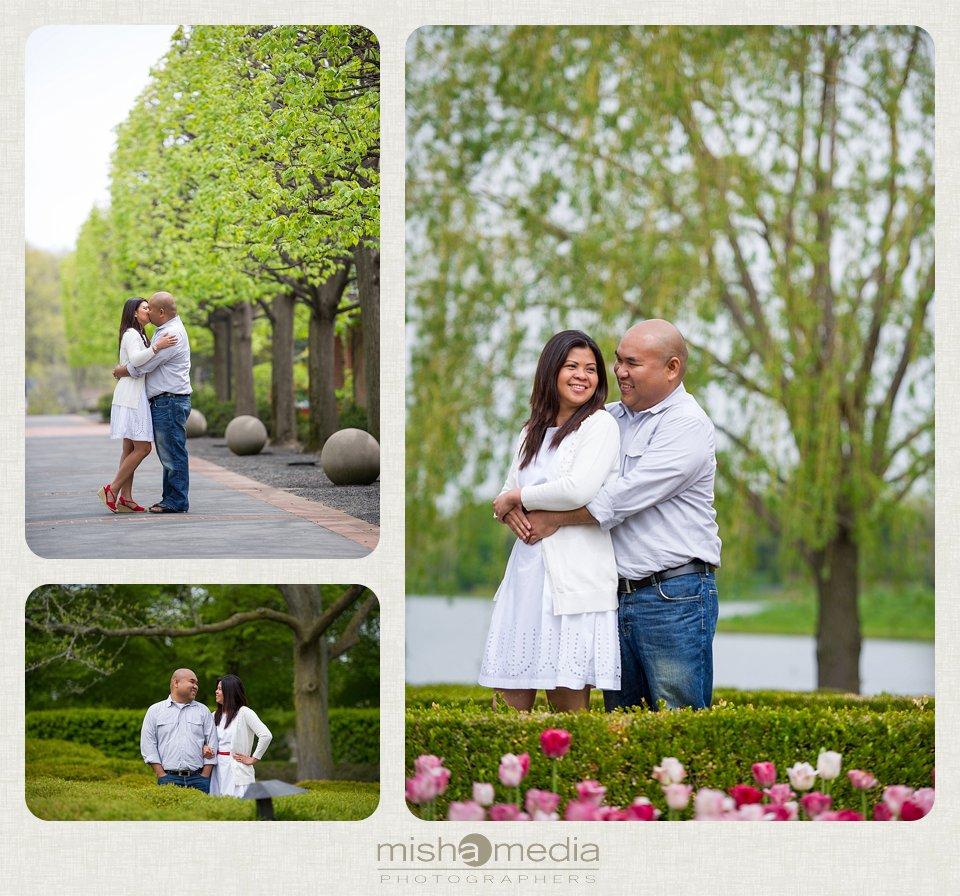 Engagement Session at Chicago Botanic Gardens_0004