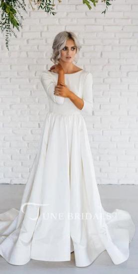 Modern Simple Long Sleeve -June Bridals