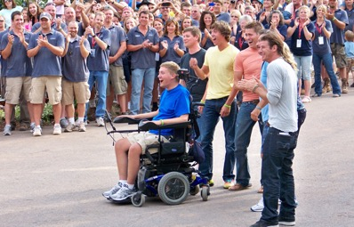 During the episode of Extreme Home Makeover Edition, Brian Keefer and his family got to see their family home renovated for accessibility and therapy. The renovation also included technology customized by  Simply Home.