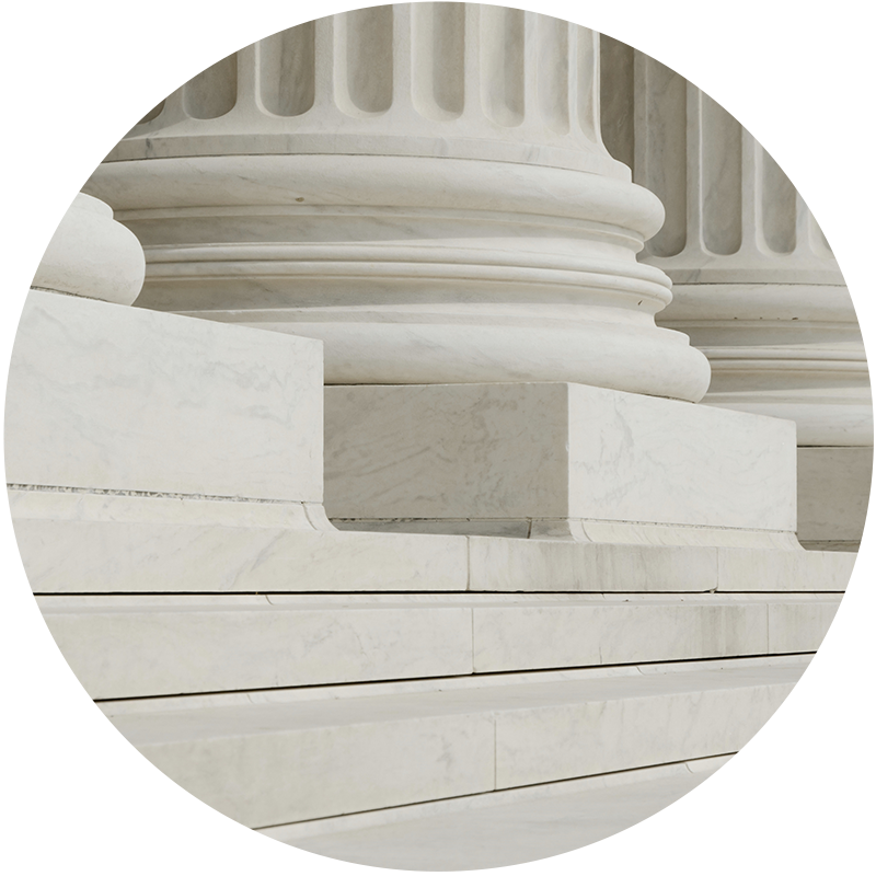Circular photo representing States, Policymakers, and Advocates