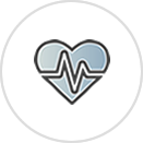 Managing Chronic Health Conditions Icon with Heartbeat on Heart Symbol.png