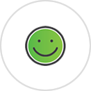 Caregiver Respite Icon with Smiley Face in Green.png
