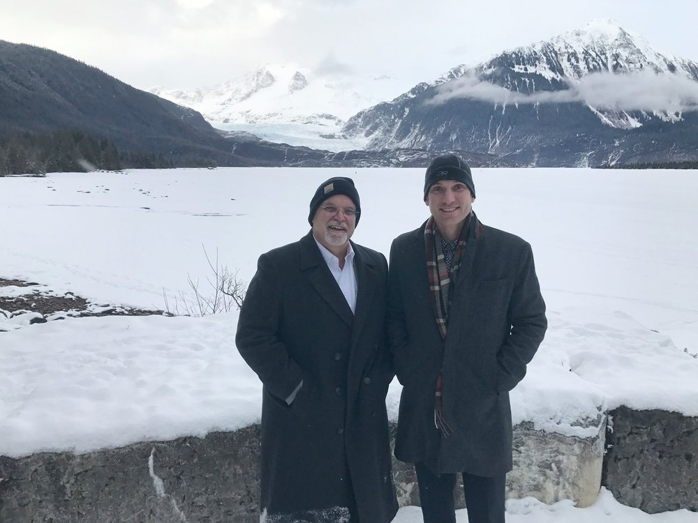 Allen Ray and Jason Ray on their spring visit to Alaska.