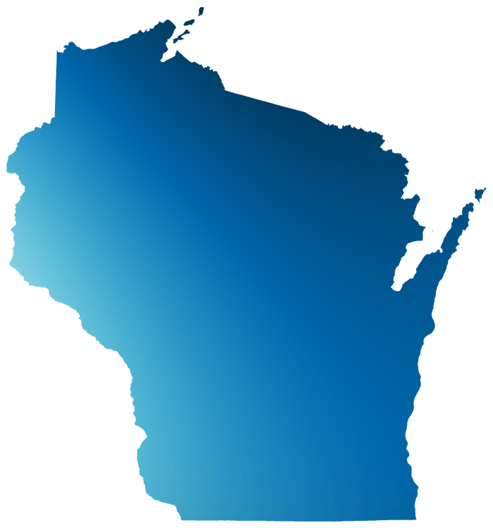 Blue outline of Wisconsin