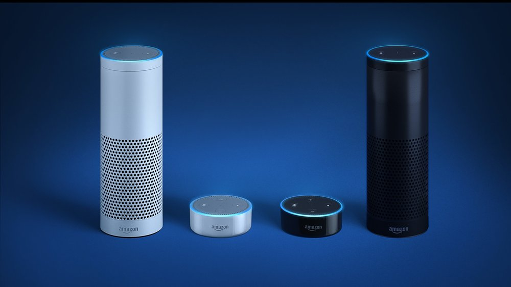 The Amazon Echo and the Echo Dot.