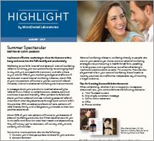 Highlight Newsletter - Aug Written by Cathy Jameson