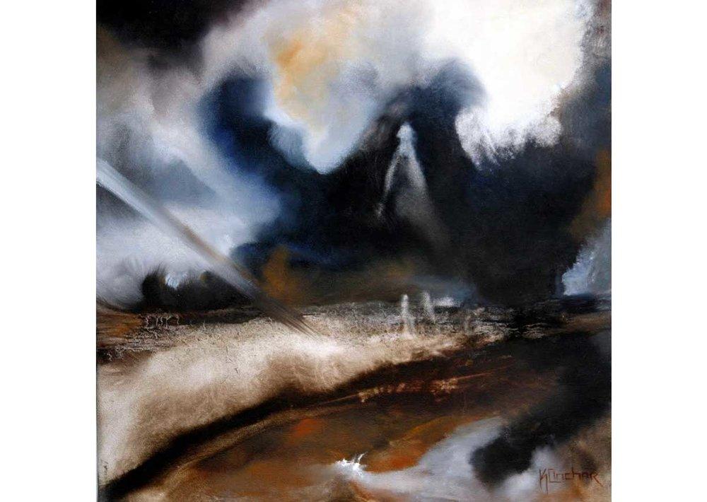 Traspasando espacios.  Óleo sobre tela | 2004 | 160 x 130 cm.