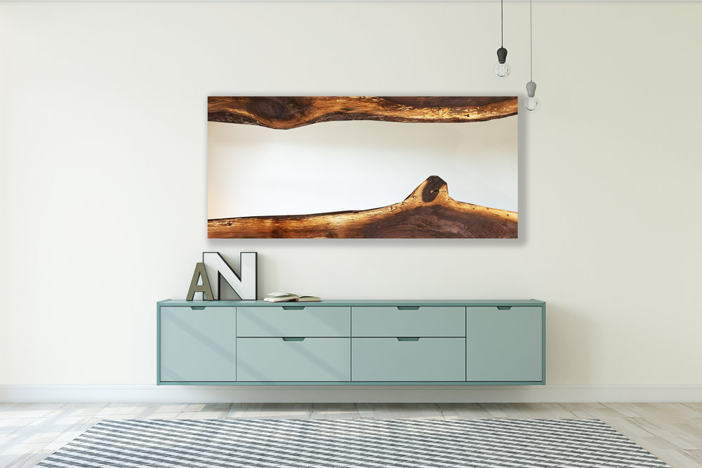 BLACK WALNUT LIVE EDGE WALL MIRROR