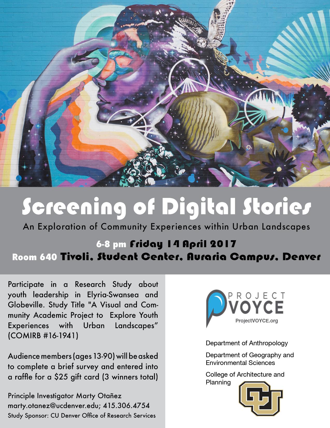 Screening of Digital Stories — Project VOYCE