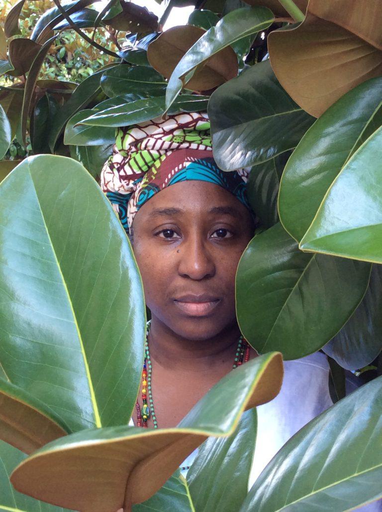 "D. Denenge Duyst-Akpem, ""Maria E. Hamilton Abegunde, Osanyin Commemorative Portrait Series,"" 2017. Image courtesy of artist."