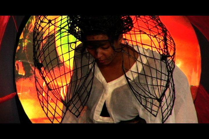 "D. Denenge Duyst-Akpem, ""Alter-Destiny 888,"" 2008. Still shot from video and performance installation. Image courtesy of The LAB for Performance and Installation."