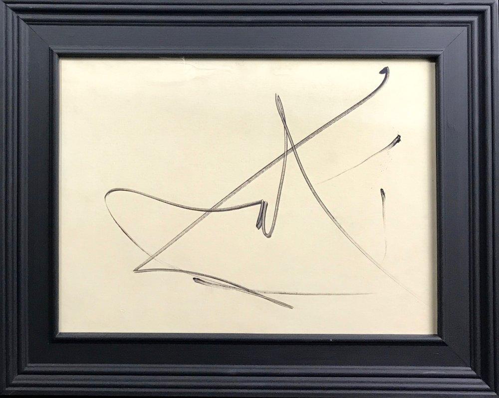 Signature of Salvador Dali (1904-1989)