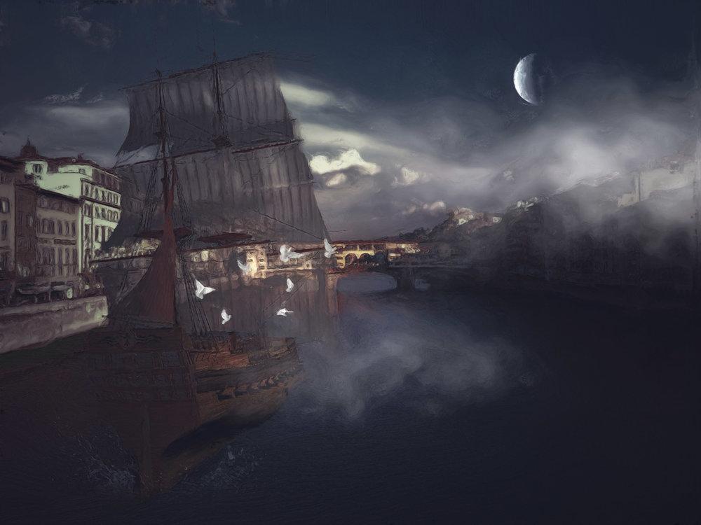 Ponte Vecchio's Pirate Ship