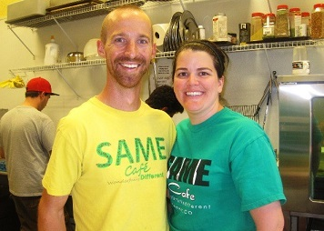 Brad and Libby Birky, founders of SAME Cafe in Denver.
