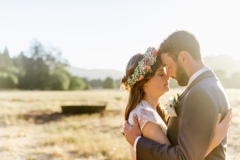 sunset ranch newlywed portrait