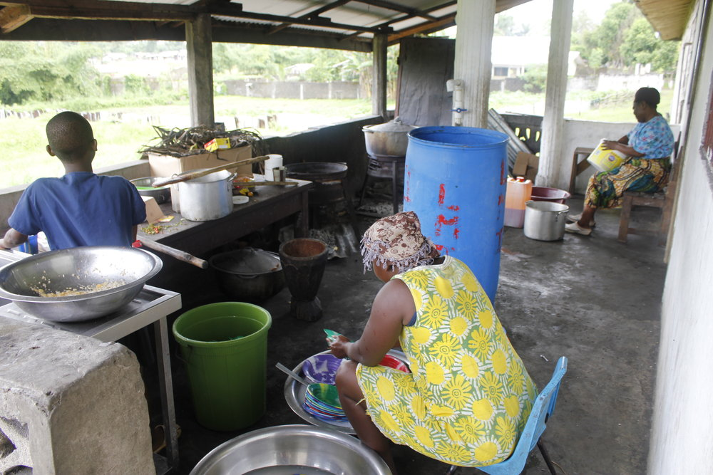 Liberia Mission's Outdoor Cooking Space