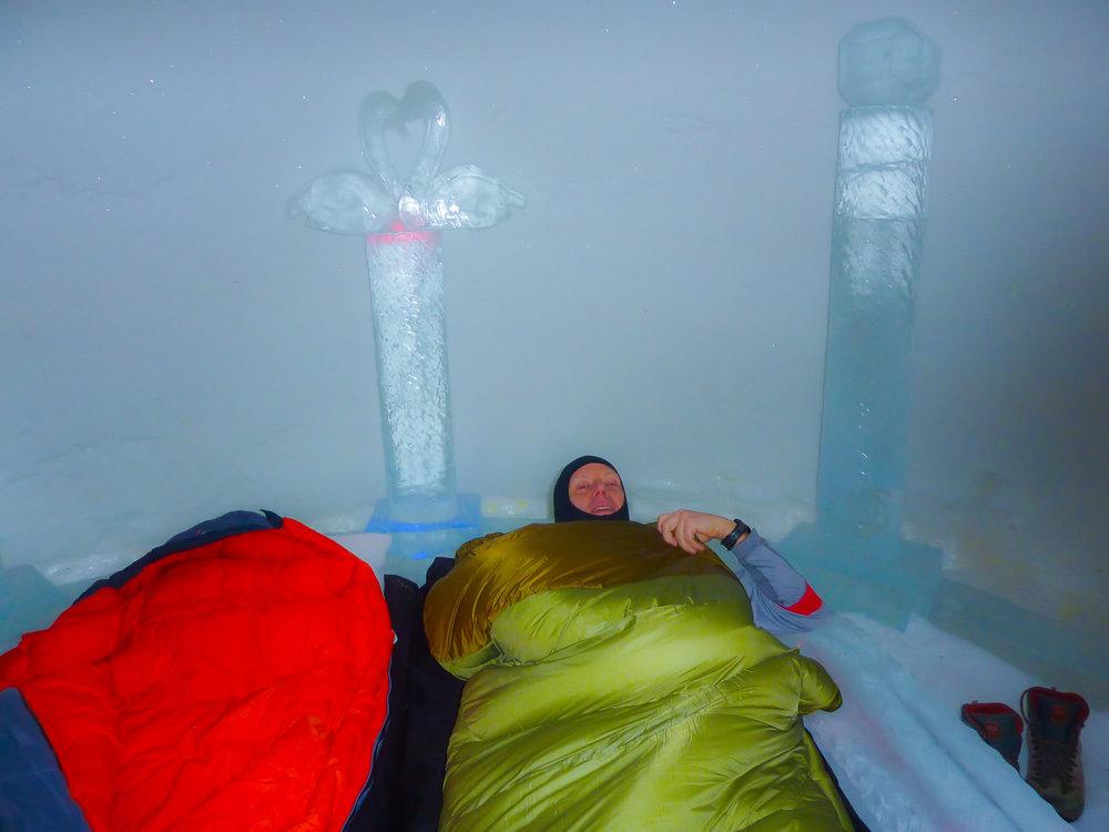 Overnachten in het ijshotel