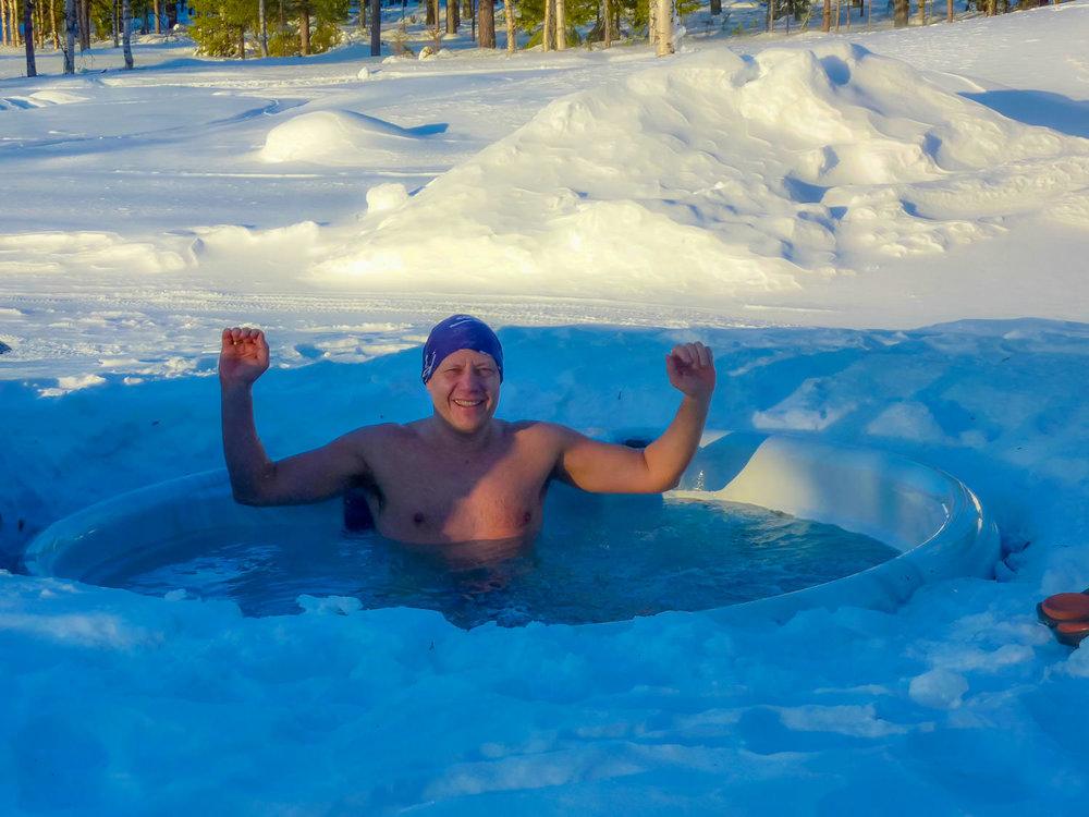 Jacuzzi in Lapland