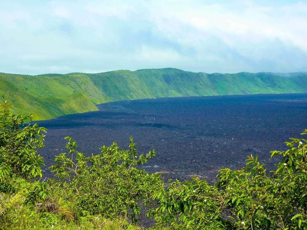 Sierra Negra Vulkaan Krater