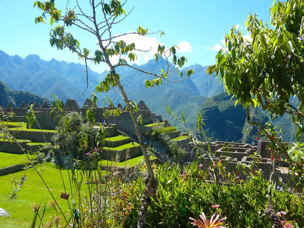 Machu Picchu in de zon