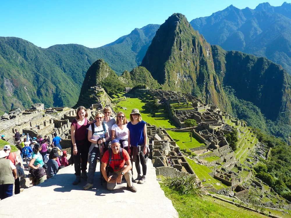 Aankomst Machu Picchu