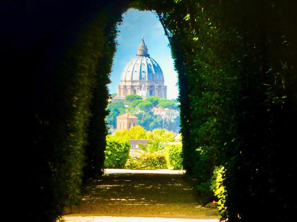 Sleutelgat foto van Sint Pietersbasiliek