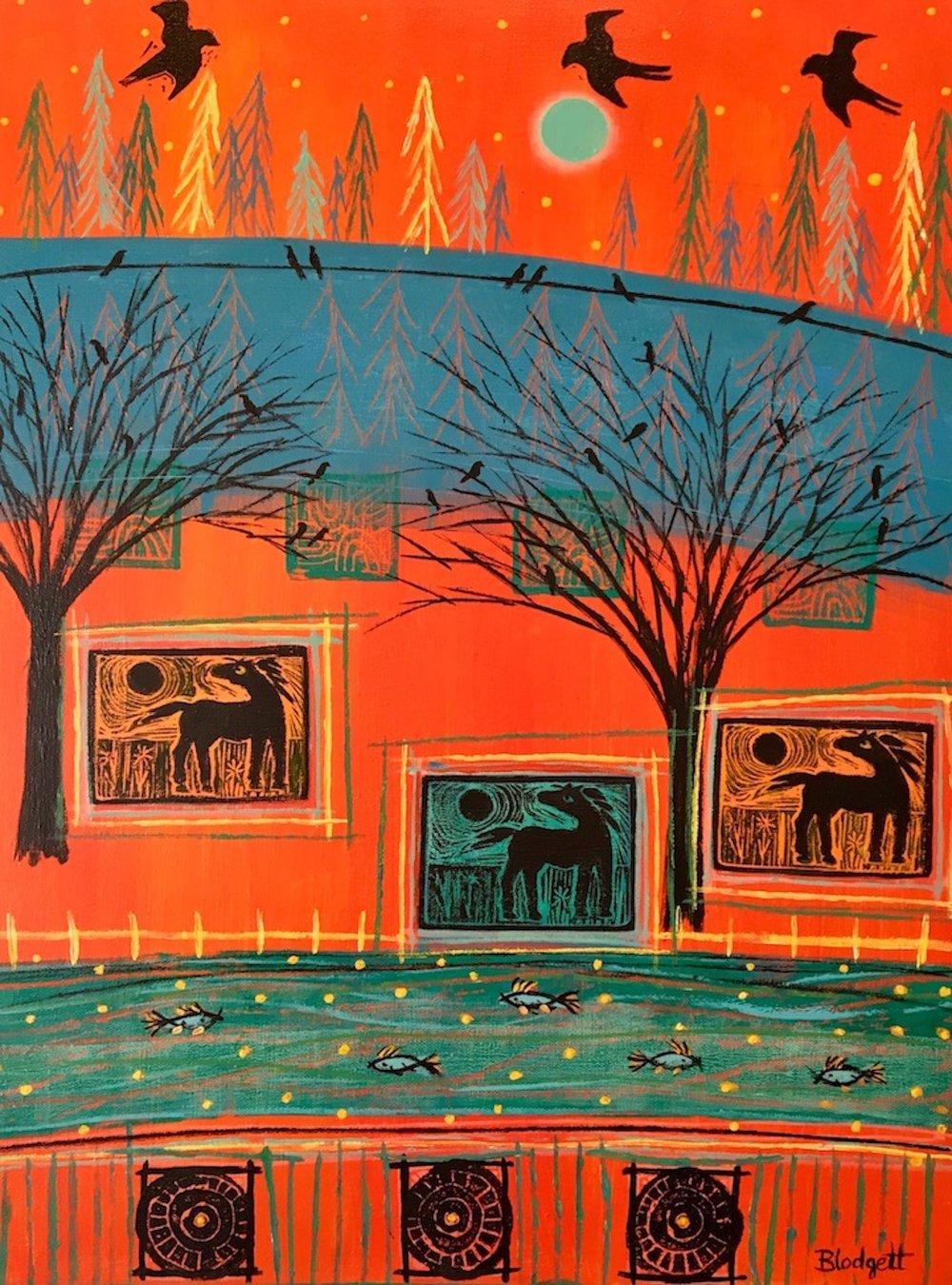 Caballos del Rio by Eileen Blodgett