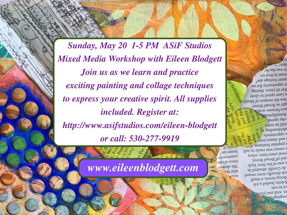 Learn and practice various mixed media and acrylic painting techniques while creating a personal creative expression which reflects you. $75 for materials and instruction in a comfortable studio setting.