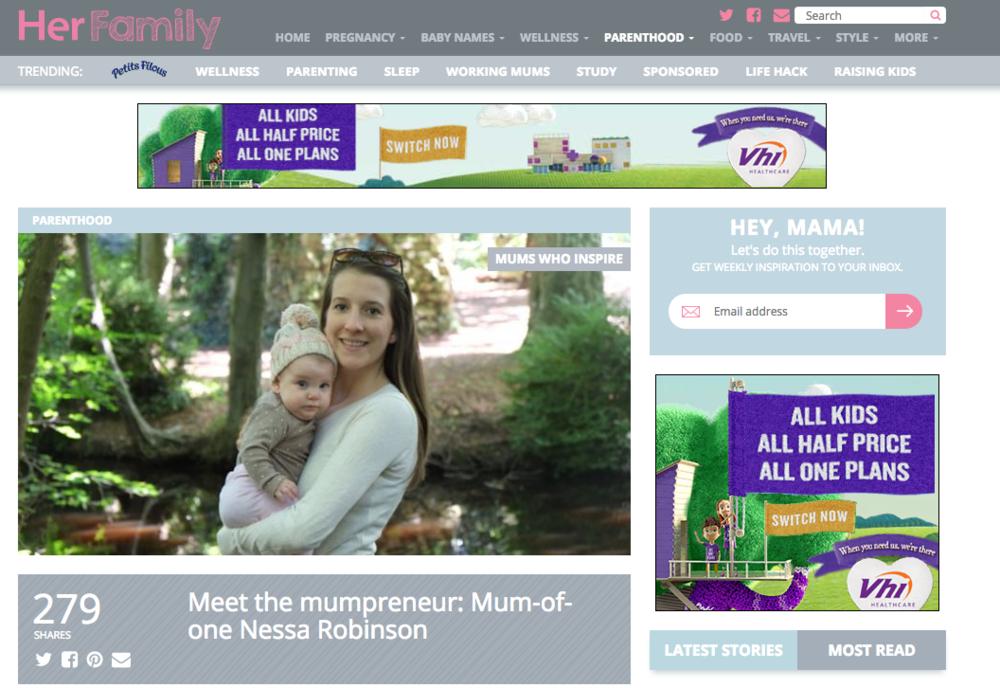 Nessa Robinson on HerFamily.ie