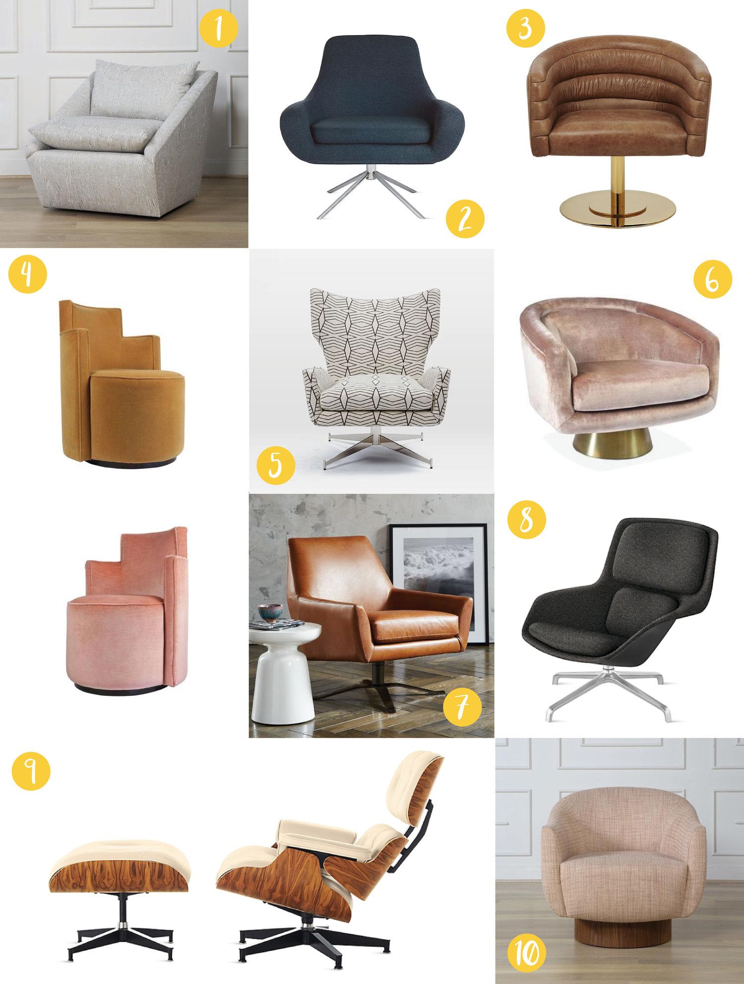 Brilliant Nyla Free Designs Inc Top 10 Swivel Chairs Inzonedesignstudio Interior Chair Design Inzonedesignstudiocom