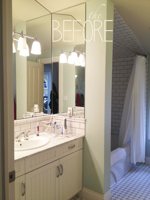 Genial Our Goal Was To Create A Light And Airy, Modern Bathroom Suitable For Three  Teenagers. We Removed The Tub And Swapped The Shower For The Vanity To  Provide ...