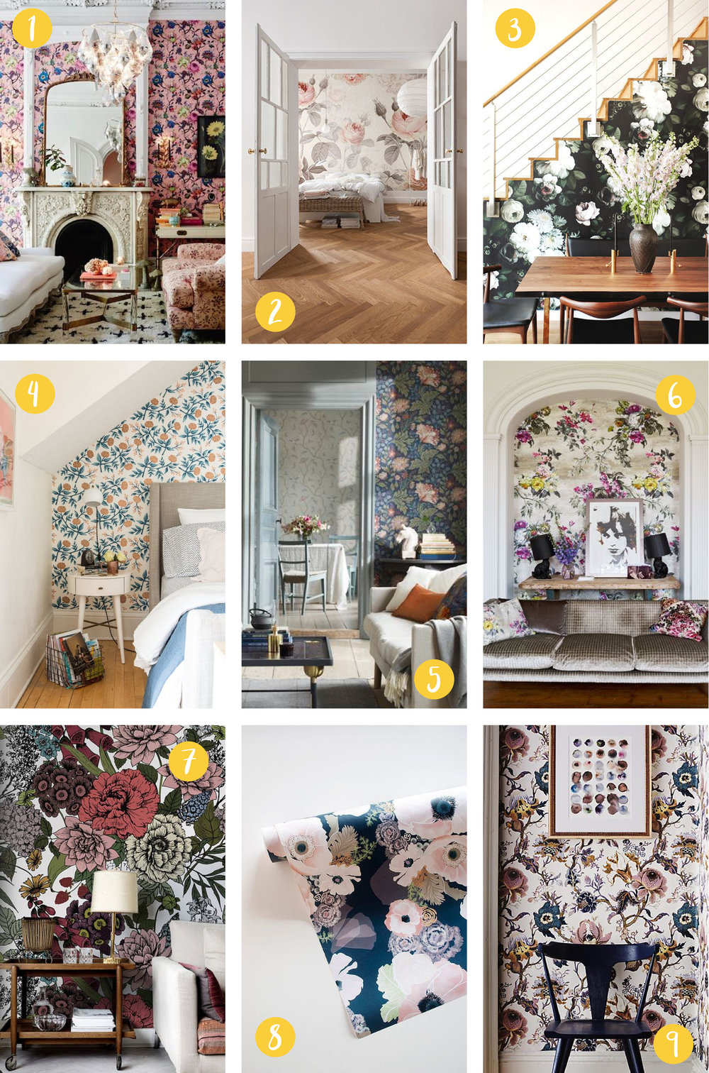 Lately Loving: Floral Wallpaper, Nyla Free Designs Inc.