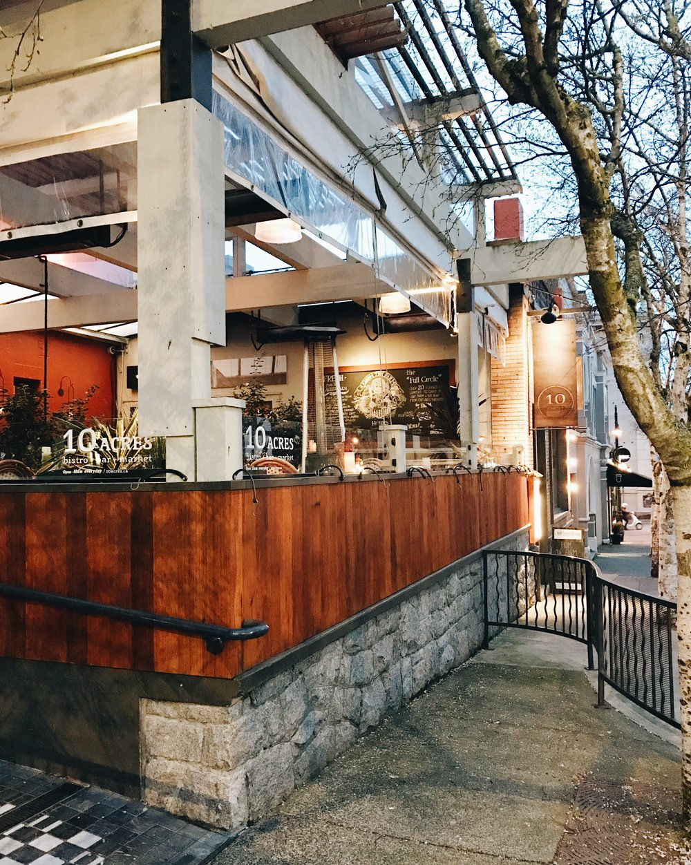 10 Acres Restaurant, Victoria BC, Nyla Free Designs Inc