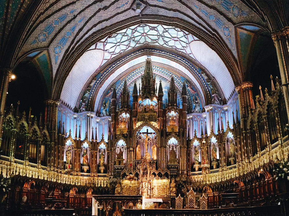 Notre Dame Basilica, Nyla Free Designs Travels Montreal, Weekend Guide, Travel Tips, Canada, Calgary Interior Designer