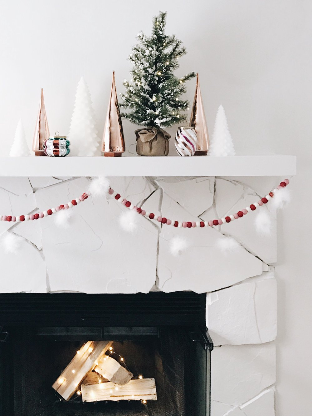 3 Ways to Style a Mantle for Christmas, Nyla Free Designs, Christmas Decorating, Calgary Interior Designer