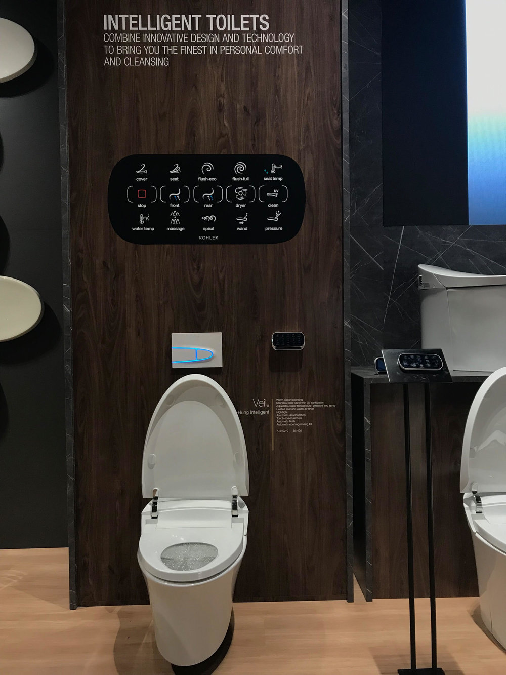 Kohler Intelligent Toilets, KBIS 2018, Bathroom Trends, BlogTour, Nyla Free Designs, Calgary Interior Designer, #designhounds