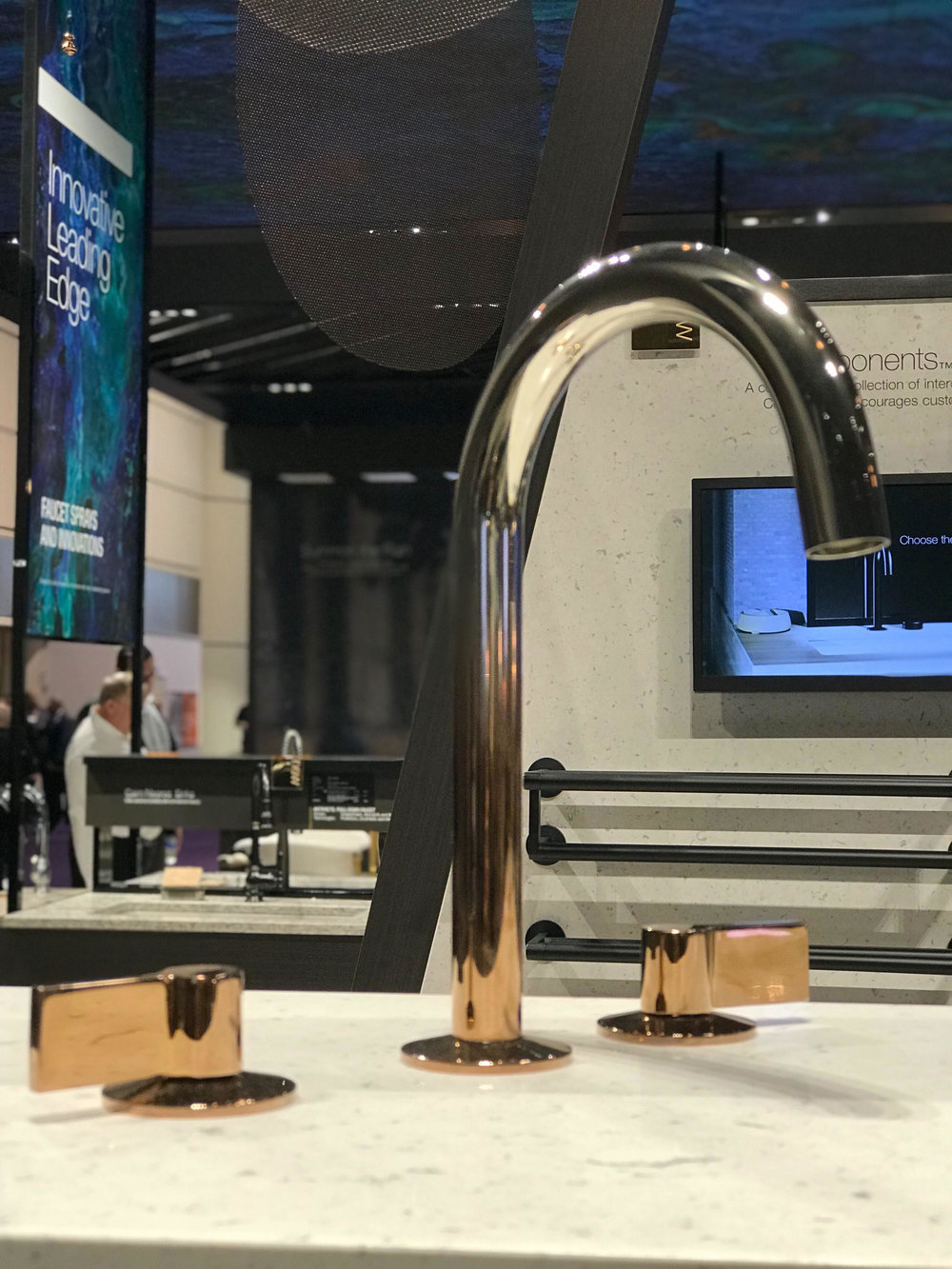 Kohler's   Vibrant   faucet in Rose Gold ombré. Also available in reverse. Swoon!