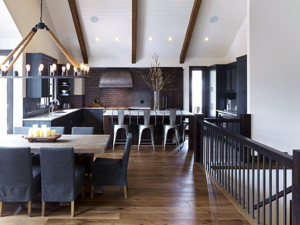 Nyla Free Designs Inc. Canmore Mountain Retreat, Modern Rustic Kitchen.