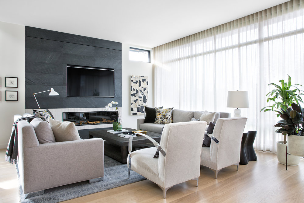 nyla free designs inc. - project reveal: elbow park modern living room